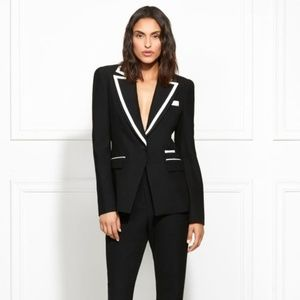 Rachel Zoe- Abbie Contrast Piped Suiting Blazer